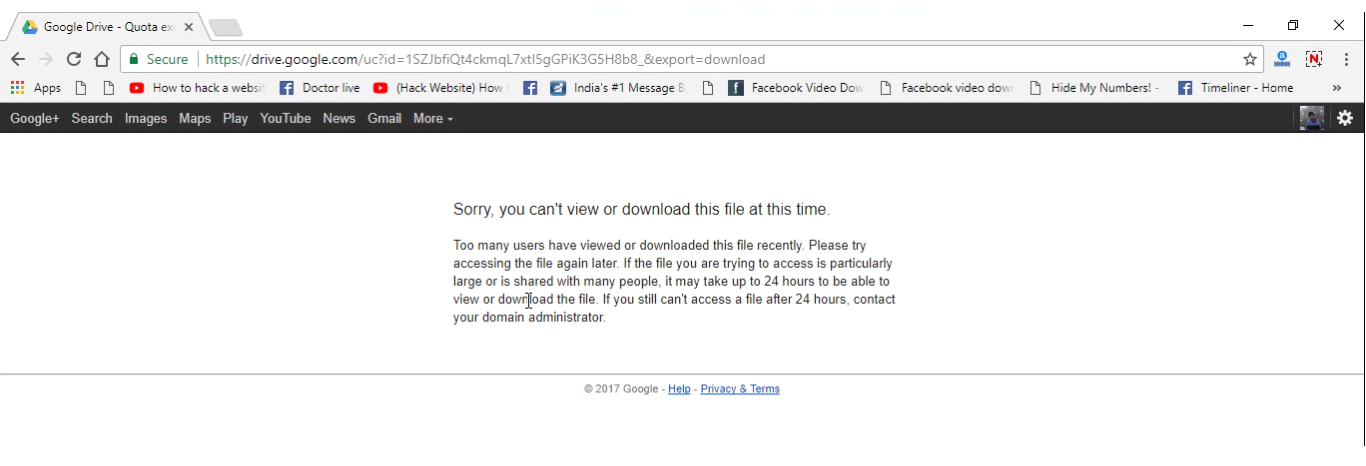 you can't view or download this file at this time