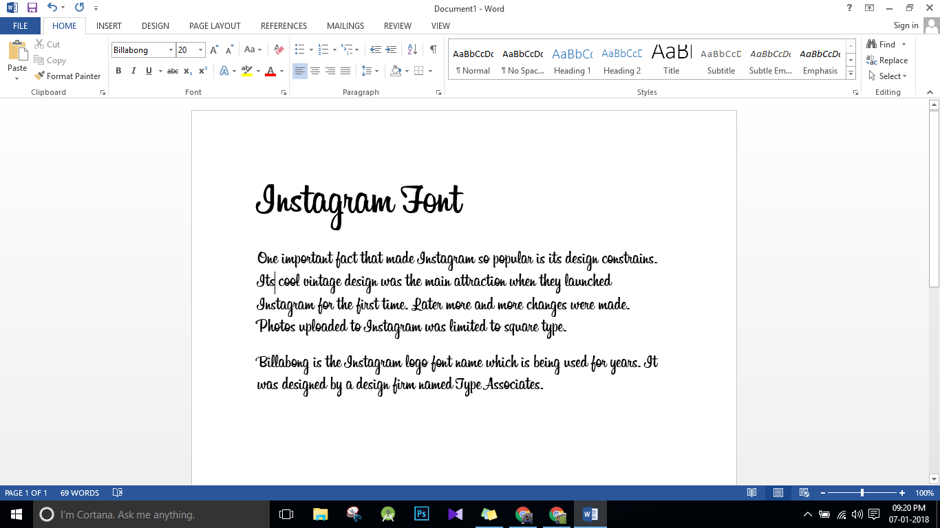 Instagram Font - Free Download link and complete usage guide