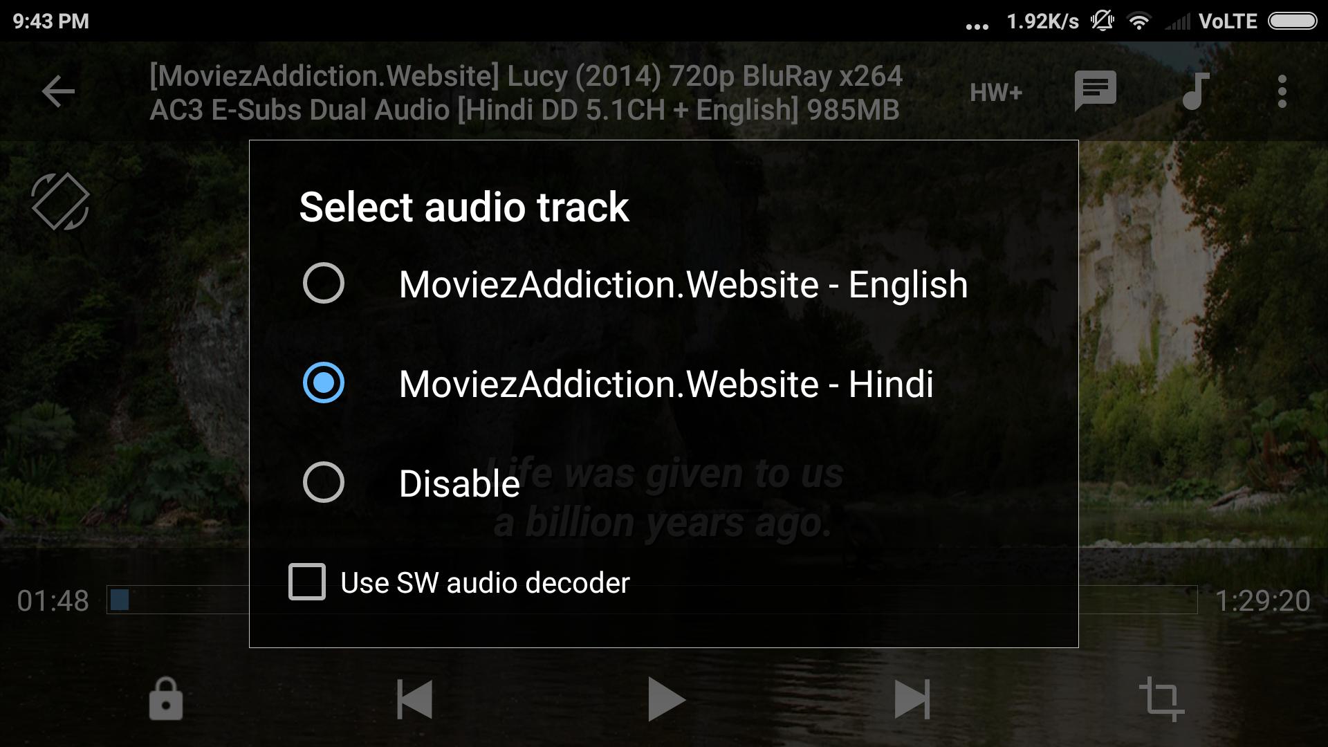 Audio Tracks for Movies