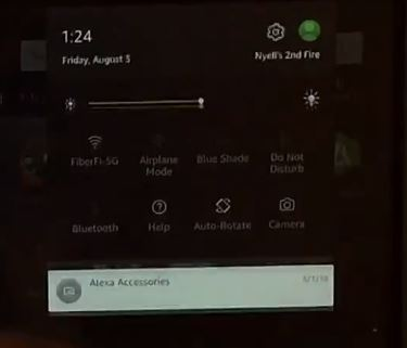 Alexa Accessories notification