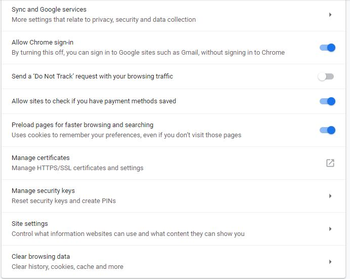 clear cache and Cookies for one site in Google Chrome