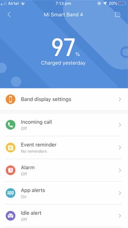change Mi band 4 faces with officially announced faces