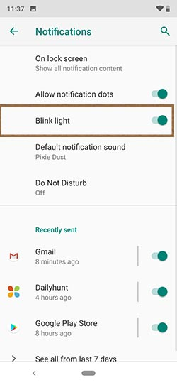 Led Notification on Xiaomi Mi A3