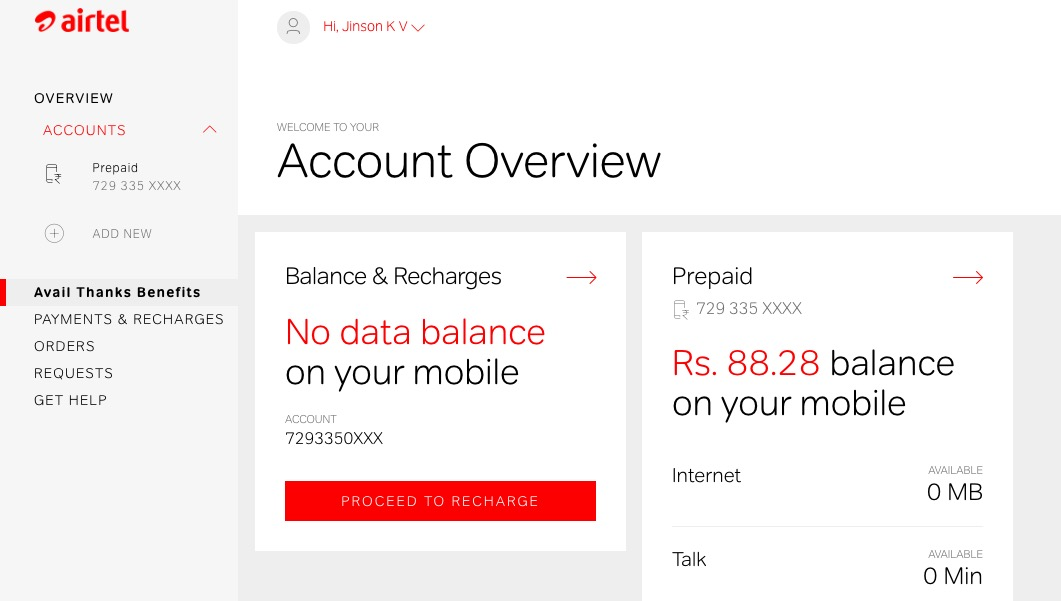 Airtel USSD Codes mobile number check