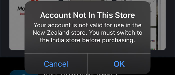 Account Not in the store