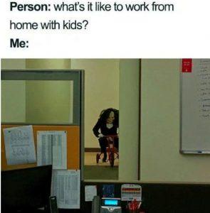 work from home corona meme