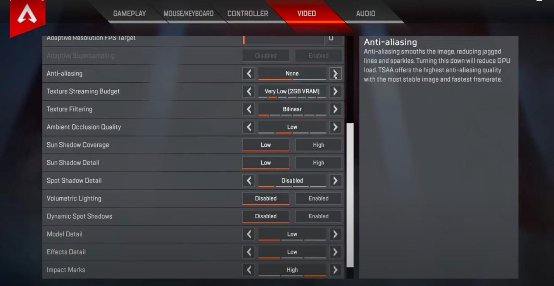 Apex Legends Black Graphics Texture Bug