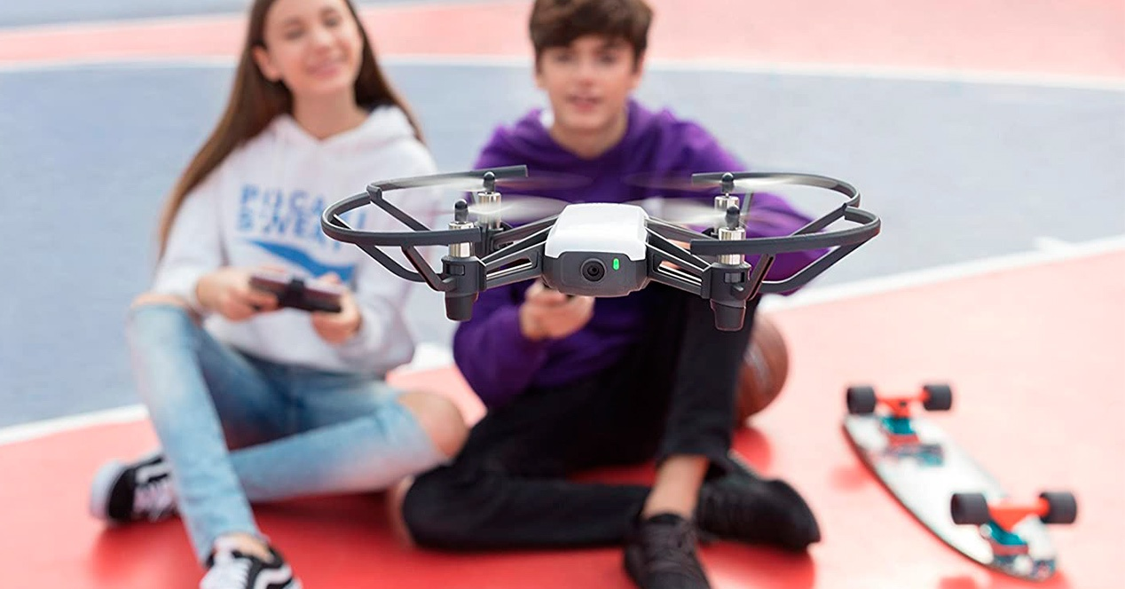 Kids with cheap drones
