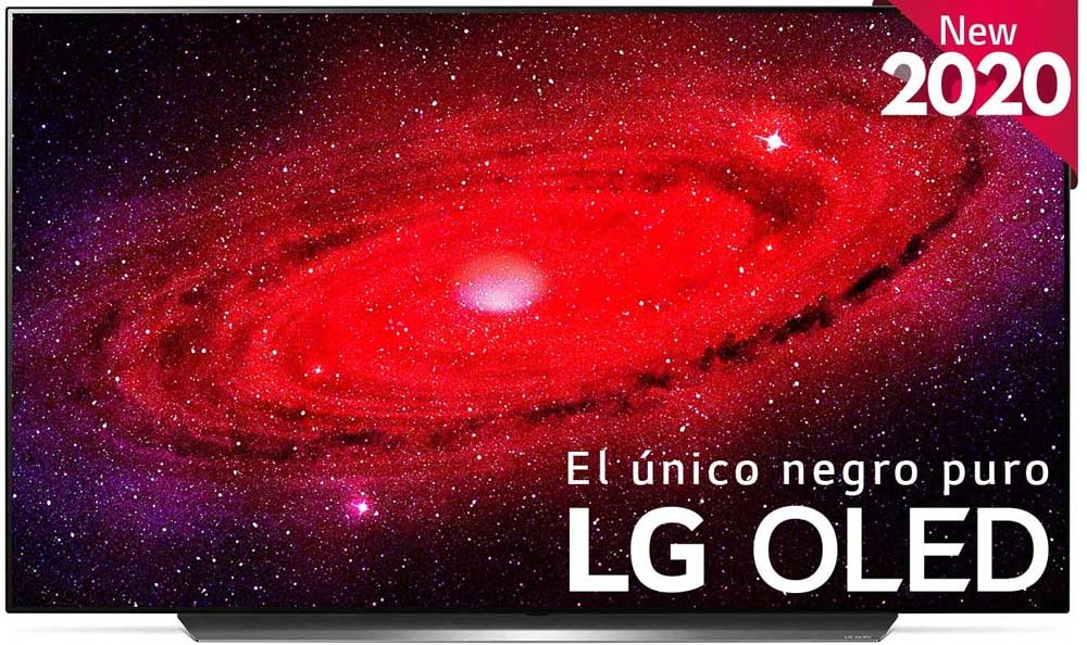 Front of the Smart TV LG OLED CX 65
