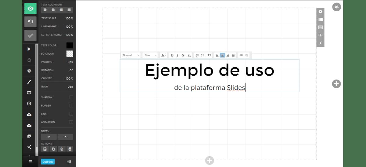 example platform slides