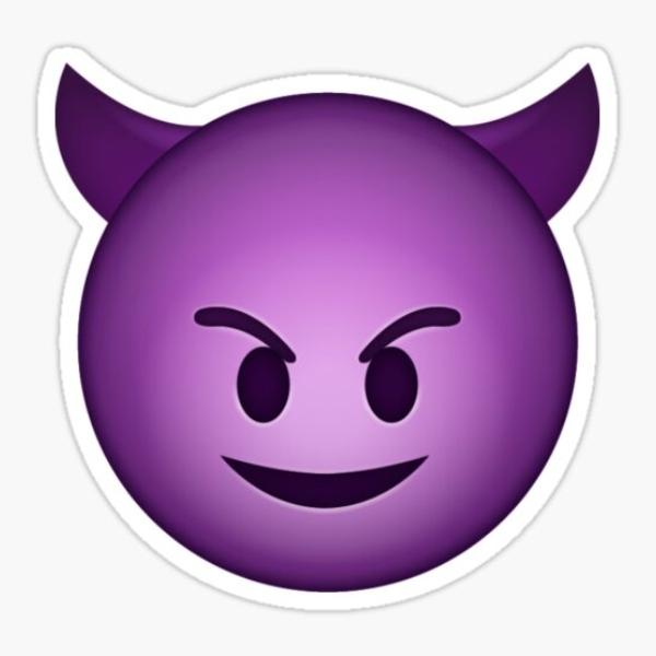 Little devil emojis smiling meaning