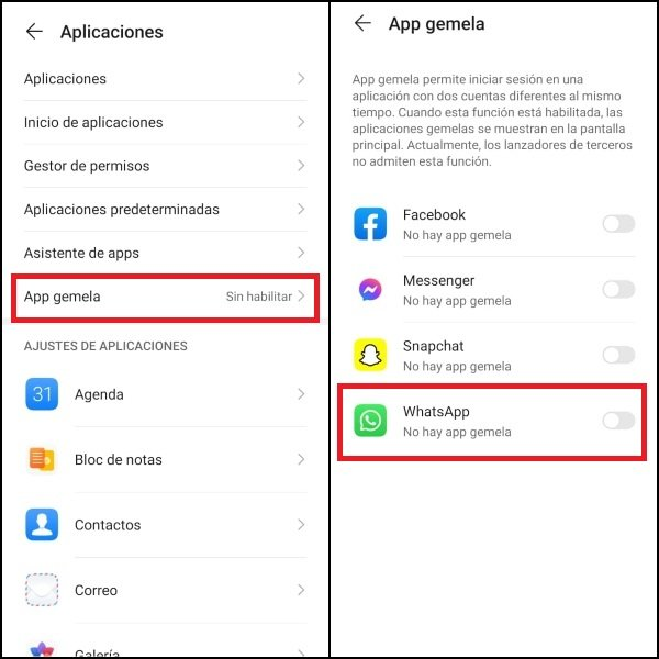 How to activate the Twin App on Huawei