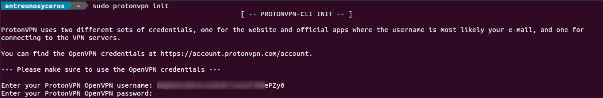login user password terminal