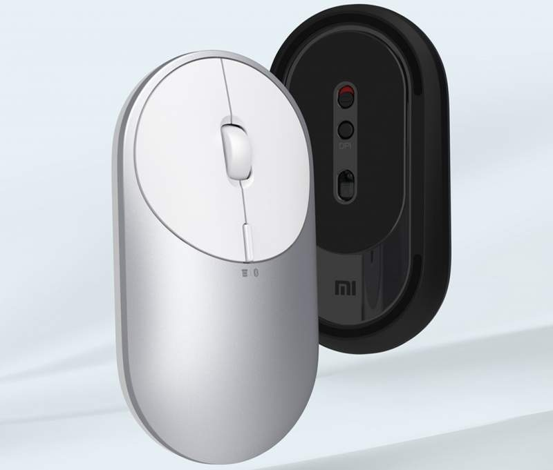 Promotional image of the Xiaomi Mi Portable Mouse 2