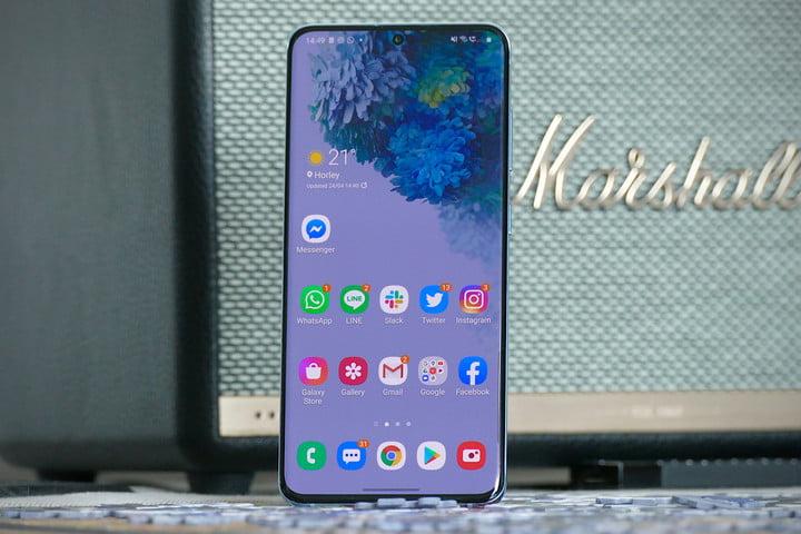 Samsung Galaxy S20 screen