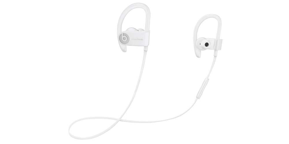 White PowerBeats 3 headphones