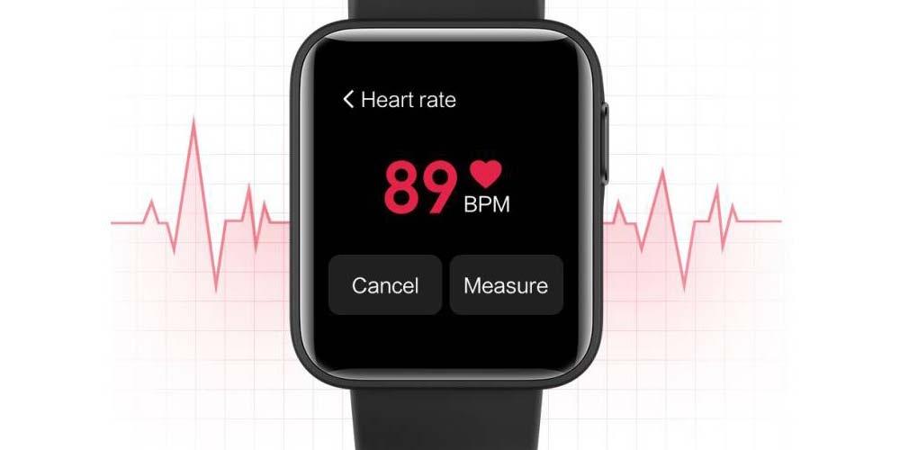 Xiaomi Mi Watch Lite smartwatch with sensor use