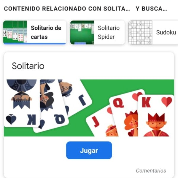 Solitaire free game Google doodle