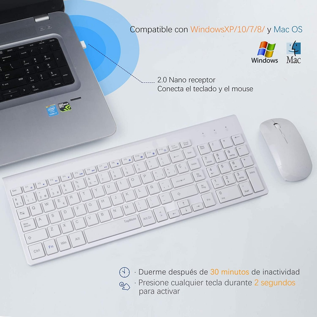 TopMate Keyboard and Mouse Combo