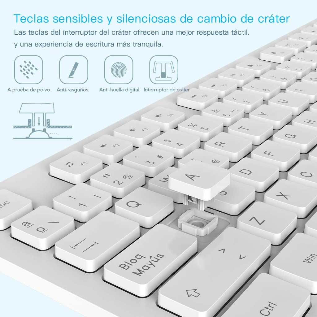WisFox Wireless Keyboard and Mouse Packs