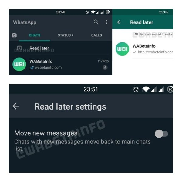 WhatsApp launches the 'Read Later' function that replaces archived chats and automatically mutes those conversations