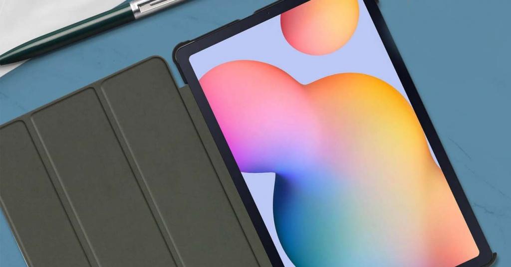 Samsung tablet on desk