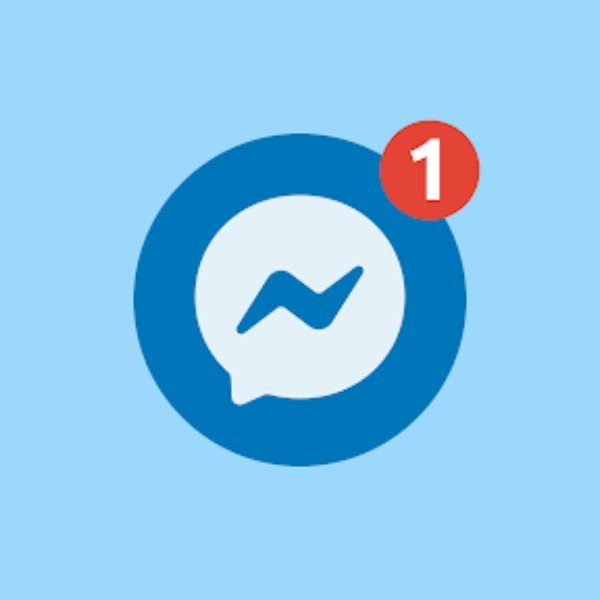 Facebook Messenger logo notifications