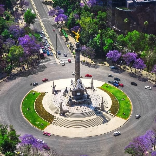 Spring Angel of Independence Mexico City