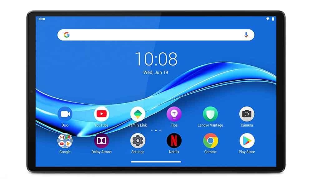 Lenovo Tab M10 Plus tablet screen