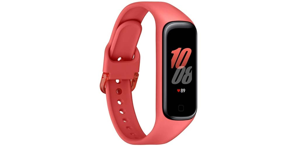 Red Samsung Galaxy Fit2 bracelet