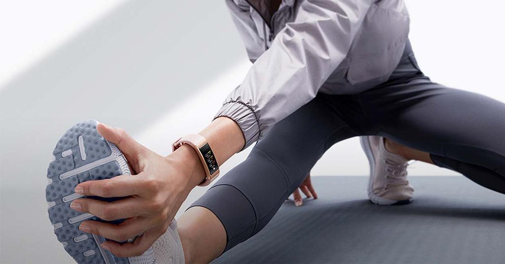 Using the Huawei Band 4 smartband