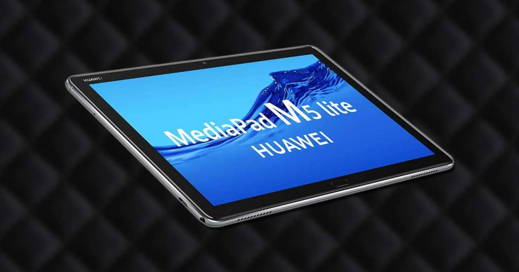 Tablet Huawei MediaPad M5 Lite with background