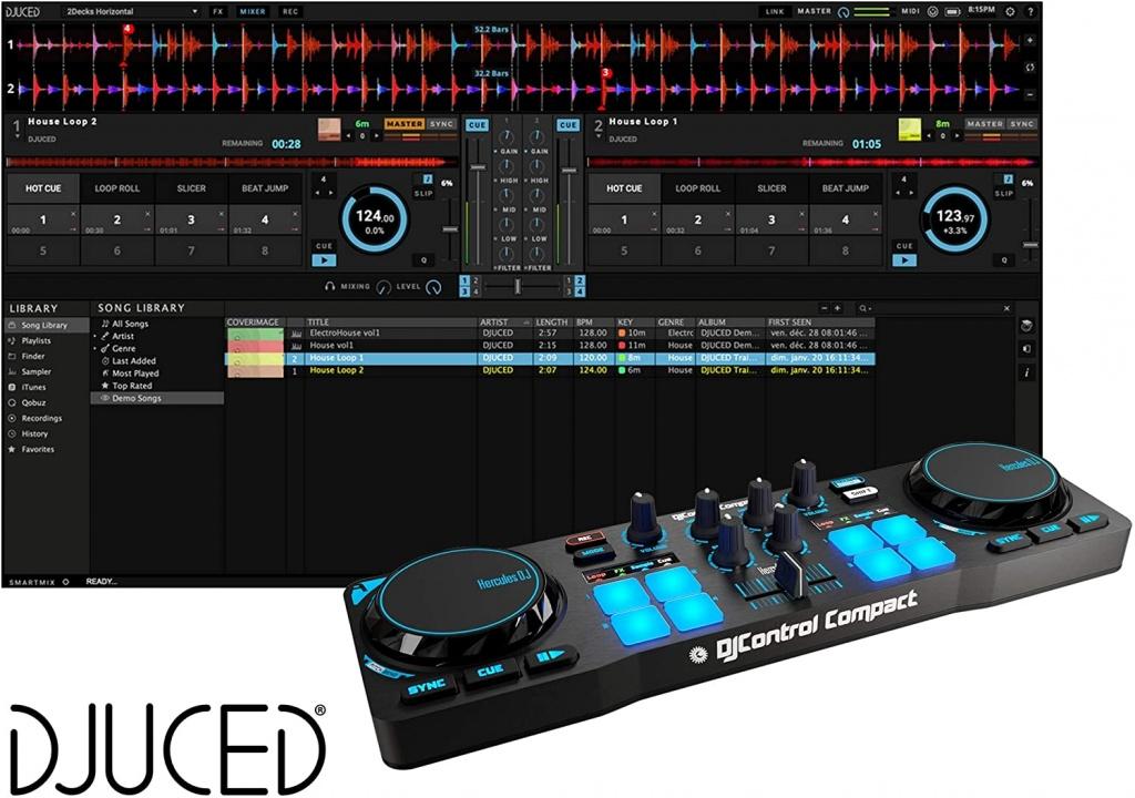 Hercules DJCONTROL Compact Mixing Desks