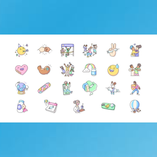 New stickers from WHO and WhatsApp