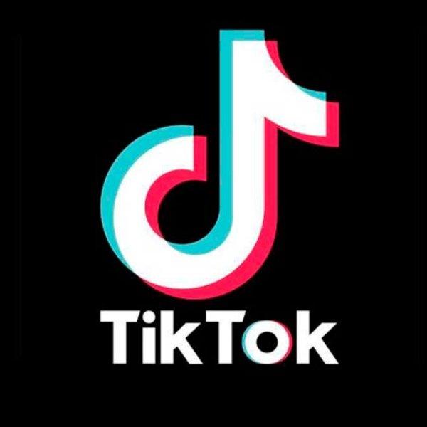 TikTok official logo black background