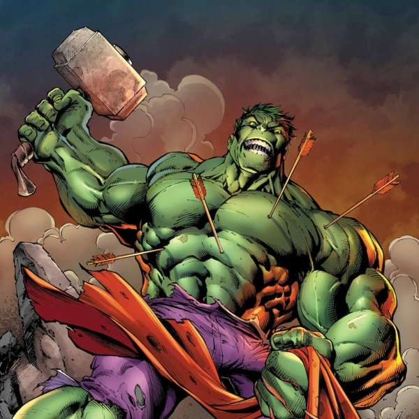 Bad hulk, hammer, marvel comics