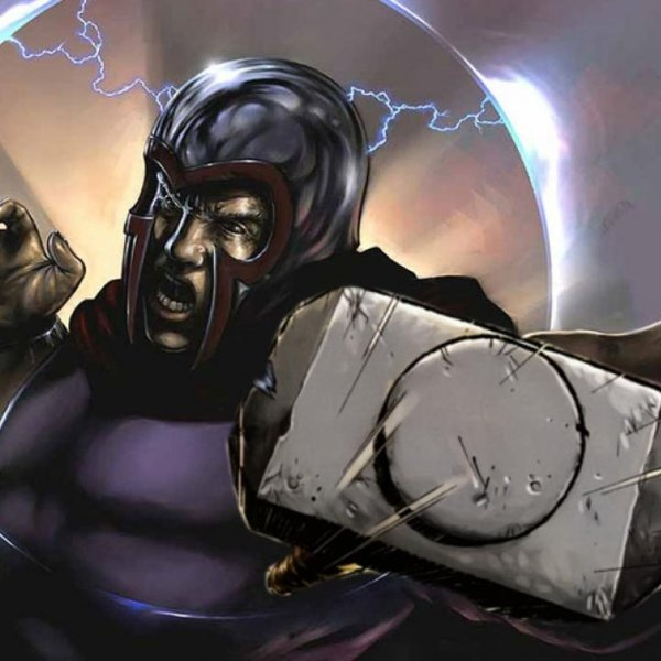 Magneto if he can lift Thor's hammer super power
