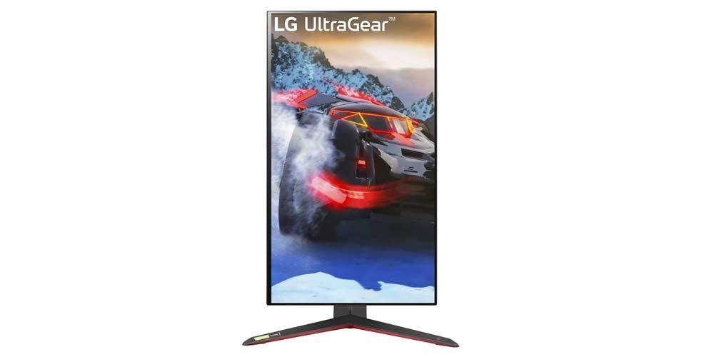 LG 27GP950 monitor rotated